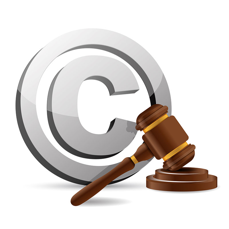 Copyright and judge gavel