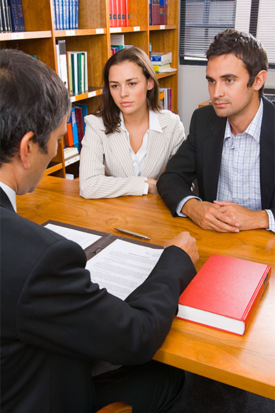 husband and wife with attorney